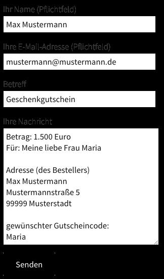 Gutschein-Bestellformular