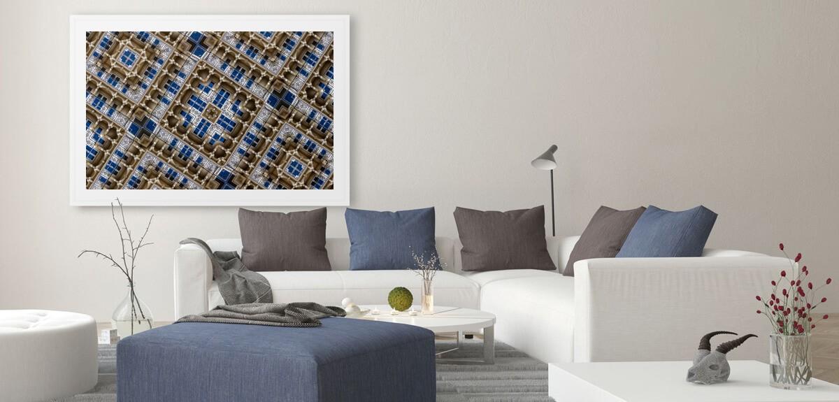 Dekorative Fotokunst im Büroraum