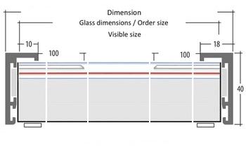 Aufbau offene Editionen (Passepartout aufliegend 3 mm) EN